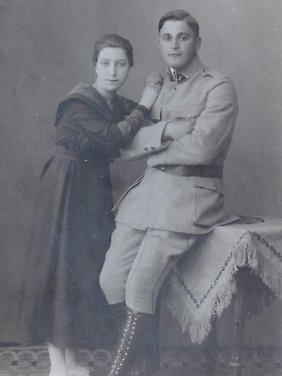 Merkels Großvater in der Uniform der Haller-Armee.